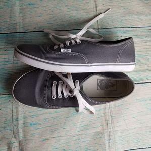 Vans grey canvas sneakers size 9